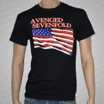 Avenged Sevenfold Flag Black T-Shirt
