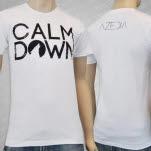 AZEDIA Calm Down White T-Shirt
