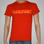 Bane Orange Logo on Red T-Shirt