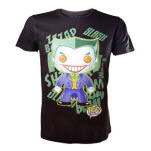 Batman Joker Graphic Art Black T-Shirt