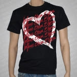 Before Their Eyes Heart Black T-Shirt
