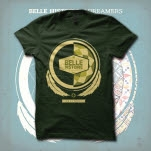 Belle Histoire Dreamers Feathers Forest Green T-Shirt