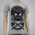 Black Rose District Chains Heather Gray T-Shirt