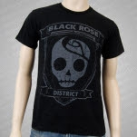 Black Rose District Shield Black T-Shirt
