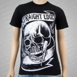 Black Rose District Skull Razor Black T-Shirt