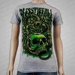 blessthefall Skull Snake Heather Gray T-Shirt