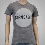 Born Cages Circle Logo Tr Blend Heather Grey T-Shirt
