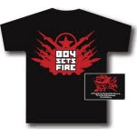 Boysetsfire Guns Black T-Shirt