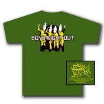 Boys Night Out Flame Heads Army Green T-Shirt