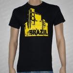 Brazil Building Black T-Shirt