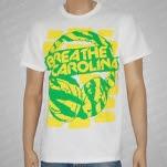Breathe Carolina Head Phones White T-Shirt