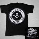 Buck O Nine Skull And Crossed Bones Black T-Shirt