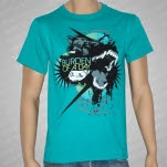 Burden of a Day Wolf Aqua Blue T-Shirt