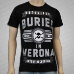 Buried In Verona Notorious Skull Black T-Shirt