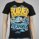 Buried In Verona Plane Black T-Shirt