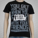 Buried In Verona Text Black T-Shirt