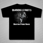 Burning Streets Boston Punk Black T-Shirt