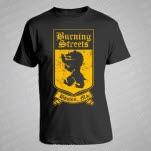 Burning Streets Crest Black T-Shirt