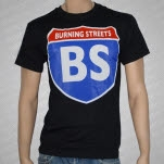 official Burning Streets Highway Black T-Shirt