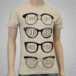 Candy Hearts Glasses Natural T-Shirt