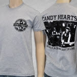 Candy Hearts Hardcore Heather Grey T-Shirt