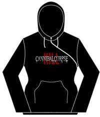 Cannibal Corpse Kill Logo Girlie Cross Zip Hsw