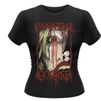 Cannibal Corpse Face Girls Ts Front And Back Print