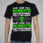Casino Madrid We Are All Robots Black T-Shirt