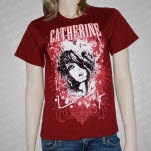 Catherine Distressed Girl Maroon T-Shirt