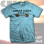 Cheap Girls Bike Light Blue T-Shirt