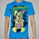 Chiodos Bunny Guts Teal Blue T-Shirt
