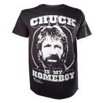 Chuck Norris Chuck Is My Homeboy Black T-Shirt