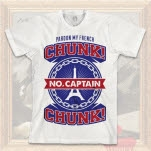 Chunk No Captain Chunk Eiffel Tower White T-Shirt