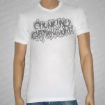Chunk No Captain Chunk Gray Logo on White T-Shirt