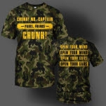 Chunk No    Captain Chunk Open Your Ears Camo T-Shirt