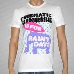 Cinematic Sunrise Elephant Rainy Day White T-Shirt