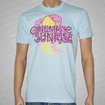 Cinematic Sunrise Flamingo Light Blue T-Shirt