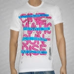 Cinematic Sunrise Microphone White T-Shirt