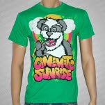 Cinematic Sunrise Panda Green T-Shirt