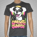 Cinematic Sunrise Panda Gray T-Shirt