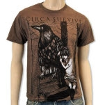 Circa Survive Girl And Bird Heather Brown T-Shirt