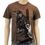 Circa Survive Girl And Bird Heather Brown T-Shirt