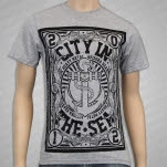 City In The Sea Crest Heather Grey T-Shirt