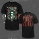 City In The Sea Roses Black T-Shirt