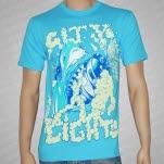 City Lights Shark Aqua T-Shirt