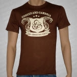 Coheed and Cambria Snakes on Brown T-Shirt