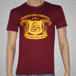 Coheed and Cambria Snakes on Maroon T-Shirt