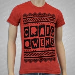 Craig Owens Lines Red T-Shirt