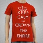 Crown The Empire Keep Calm Red T-Shirt