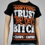 Crown The Empire Dont Ever Trust Black T-Shirt